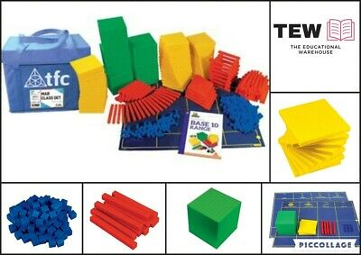 MAB Base Ten Maths Blocks Classroom Set 755p Place Value