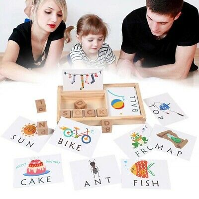 3 in 1 Spelling Learning Game Wooden Spelling Words Enlightenment Baby Gift Safe