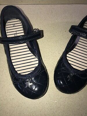 Next Girls Navy Blue Patent Shoes Size 11