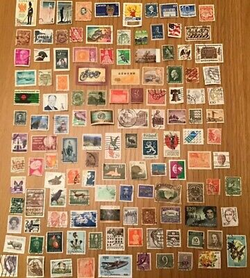 120 Worldwide Used Stamps Off Paper Kiloware, Mixture, Collection. FREE POSTAGE