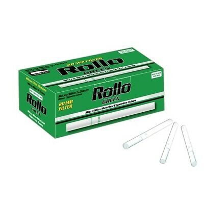 Empty Cigarette Tubes Rollo Green Menthol Micro Slim 200, 80 mm /5,5 mm Filter