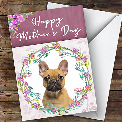 French Bulldog Pewter on Black Faux Leather Top Compact Mirror Mothers Day Gift