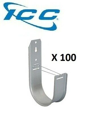 "ICC 100 Pack 3//4/"" J-Hook Wall Ceiling Mount Route Cable 90 Degree Lip ICCMSJH922"
