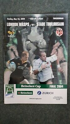 Rugby Union Heineken Cup Final 2004 Official Programme Wasps vs Stade Toulousain
