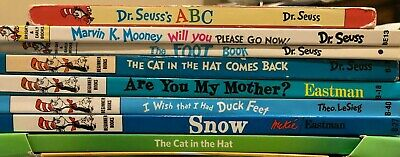 Lot 10 Dr. Seuss Children Kids Learn to I CAN Read Books Dictionary Hatful Mix