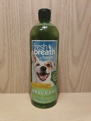 TropiClean Fresh Breath Oral Care Water Additive for Dogs 33.8 oz NEW!