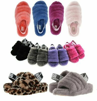 Authentic UGG Soft Fluff Yeah Slide Slippers Women's Shoe Sandal Different Color