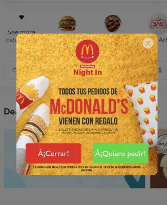 Mcdonalds Limited Edition Colombia Rappi Delivery Promo Big Mac / Fries Socks