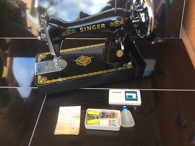 Semi-Industrial Singer 15K Handcrank  Sewing Machine, FULL SERVICED,sews LEATHER