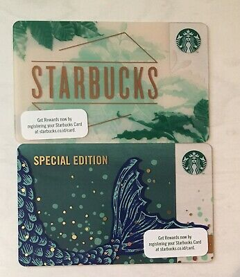 Starbucks 2019 INDONESIA Special Edition Siren Tail And Leaves 2 Card Lot Set