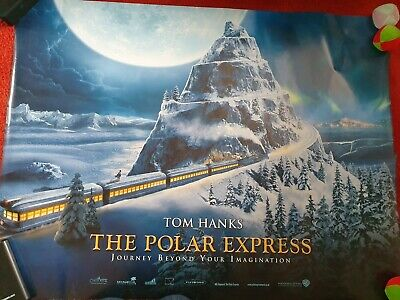 "THE POLAR EXPRESS 2004 Cinema Quad Film Poster - Tom Hanks 30""x40"""