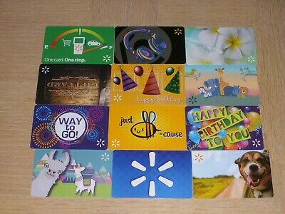 """Walmart   12 different """"brand""""  new collectible gift cards"""