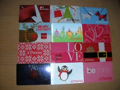J C Penney   12 different new collectible gift cards