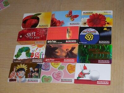 Borders   12 different new collectible gift cards
