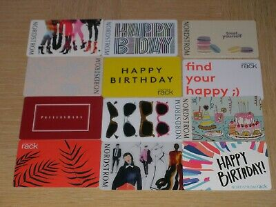 Nordstrom   12 different new collectible gift cards