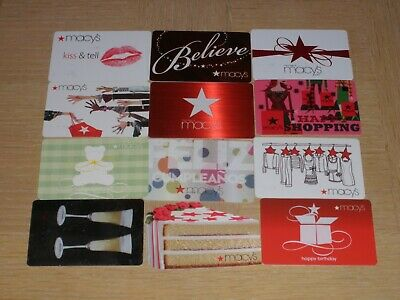 Macy's   12 different new collectible gift cards
