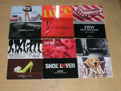 D S W    12 different new collectible gift cards