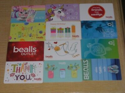 Bealls and Children's Place  12 different new collectible gift cards