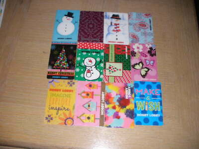 Hobby Lobby   12 different new collectible gift cards