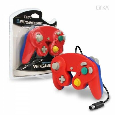 Wired Controller for Wii®/ GameCube® (Red/ Blue) - CirKa New