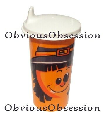 Tupperware Bell Tumbler Big Sippy Sipper Seal Baby Kids Cup Halloween Scarecrow