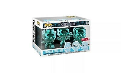 Funko Pop Haunted Mansion CHROME 3 Pack Phineas Ezra Gus Target Exclusive
