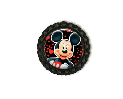 1-10x Mickey Mouse Flattened Bottle Caps 1inch - 5 Designs