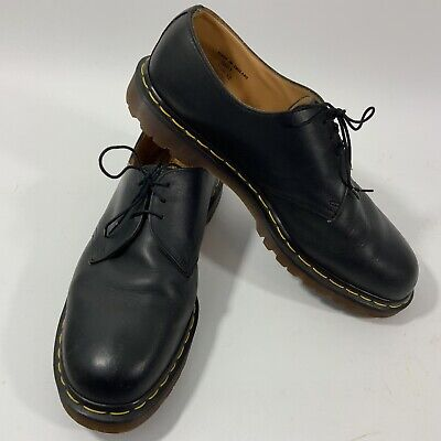 Dr. Martens 1461 Oxfords Mens 12 Black Leather Shoes Made in England Pre-owned