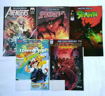 Free Comic Book Day 2019 Lot of 22 Unstamped Spawn Avengers Pokemon Spider Man