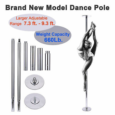 Fitness Portable Static Spinning Dancing Pole 45mm Weight Capacity 660Lb.