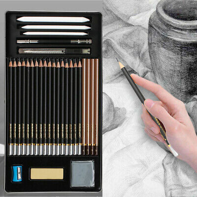 29-Piece Sketch/Draw Pencil Set for Beginners, Kids or Returning Artists