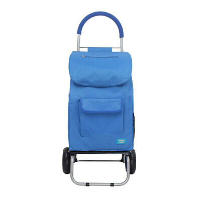White Magic 3 in 1 40L Shopping Hand Trolley/Dolly/Carry Bag Foldable/Cart Blue