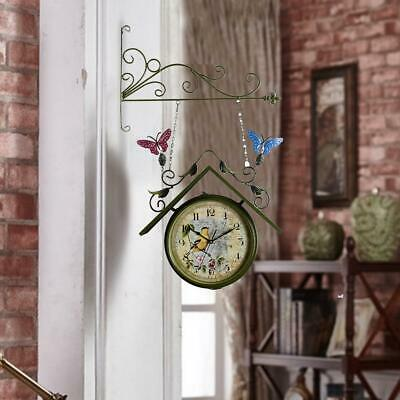 Wall-Mount Home Side US Hanging With Use Outdoor Bell Clock Double Style Bracket