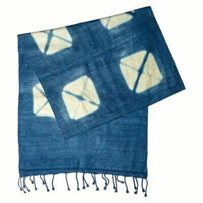 Blue Tie Dyed Scarf