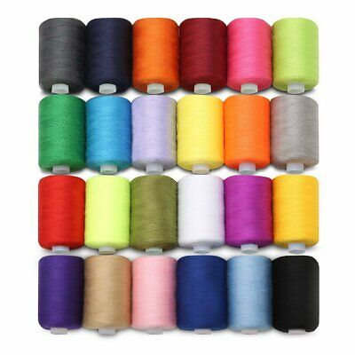 200m Spools 24 Colors Cotton Thread Reel Cord For Sewing Machine Hand Sewing NZ
