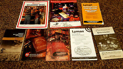 Lot of Reloading Booklets & Manuals, Guides Instructions, Lyman Hodgdon Gun Ammo