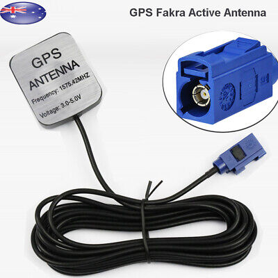 GPS Active Fakra Antenna for Audi A3 A4 A6 MMI 2G 3G 3G+ MIB In Dash Navigation