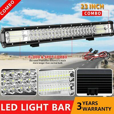 23inch 3Rows CREE LED Light Bar Combo Beam Work Driving Offroad Lamp 22'' +Wire