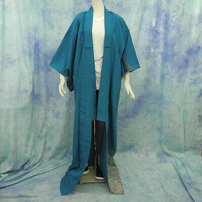 (75)Beautiful Japanese kimono made in Japan made of polyester 164cm 64.5inch