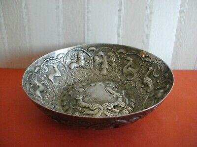 Greek Inscribed silver bowl according to an authentic model from 1763 - REPLICA!