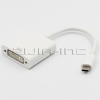DVI-D Adapter Male to Female Converter Thunderbolt 3 Port USB-C to DVI-D Adapter