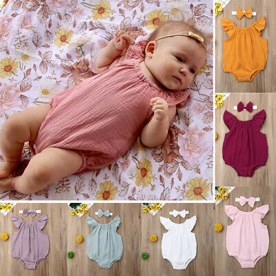 Newborn Toddler Baby Girls Clothes Romper Jumpsuit Bodysuit Outfits Sunsuit