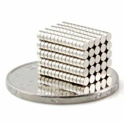 Tiny magnets 2x1 mm N52 grade neodymium disc small craft magnet 2mm dia x 1mm