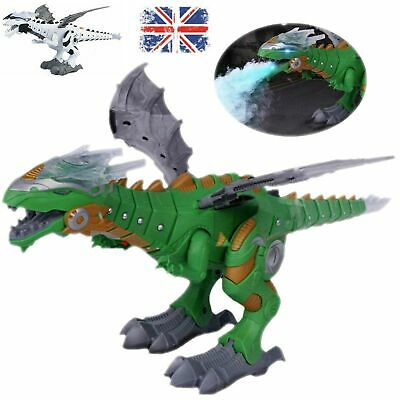 Christmas Gift Walking Dragon Toy Fire Breathing Water Spray Dinosaur Toy Gift
