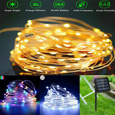 100/200/300 LED Solar Powered String Fairy Lights Garden Christmas Party Outdoor