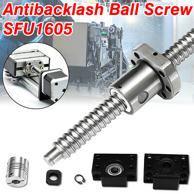 LD_ AM_ 750mm SFU1605 Antibacklash Ball Screw + BK/BF12 Support +6.35x10mm Cou