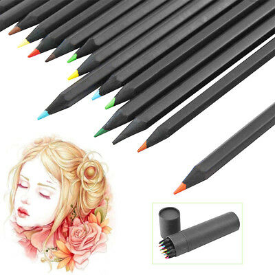24-Color Oil Base Art Sketching Drawing Colouring Pencils Set Sketch Non-toxic