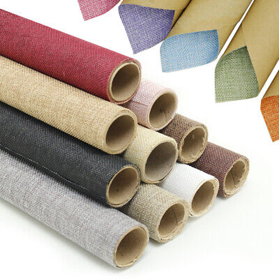 Self Adhesive Linen Look Hessian Background Fabric Back Plastic Sticky Wallpaper