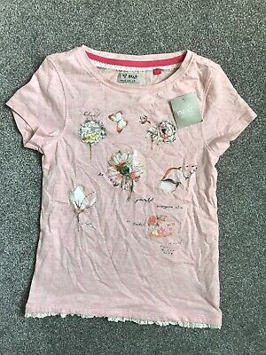 GIRLS KIDS PRETTY NEXT PINK SEQUIN T-SHIRT  6 YEARS YRS NEW Cotton New!