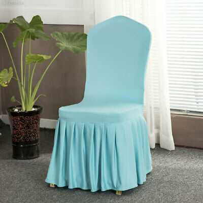 6CC2 Pleated Chair Covers Stretchy Seats Covers Elastic